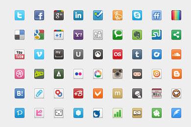 Скачать 20 Px Social Icons