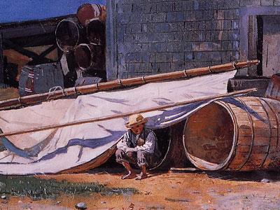 Boy in a Boatyard