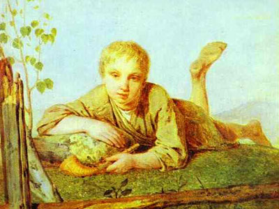 A Herd-Boy with a Pipe