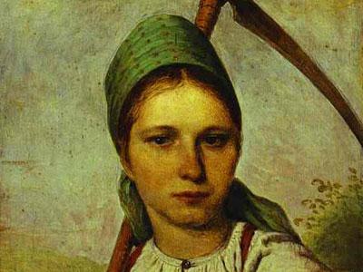 Pelageya. Peasant Woman with Scythe and Rake