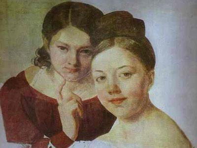 Portrait of Artist's Daughters Alexandra and Felisata