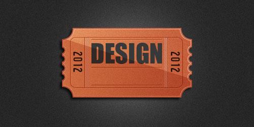 Создаем в фотошопе оригинальный логотип в виде билета в кино