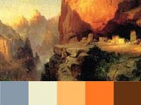 20 готовых цветовых палитр с насыщенных пейзажей Томаса Морана