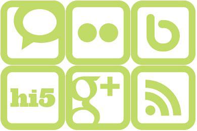 Скачать SimpleGreen Social Media Icons