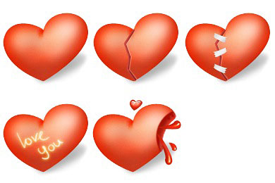 Скачать Heart Valentines Day Icons