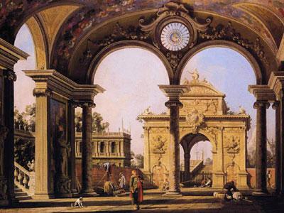 Capriccio of a Renaissance Triumphal Arch