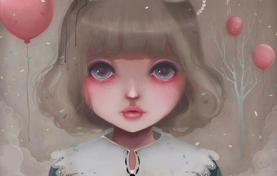 Милые кукольные глазастики от иллюстратора Ludovic Jacqz из Франции