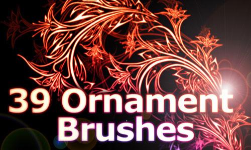 Скачать 39 Floral Ornament Brushes