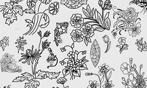Скачать Floral ornament set 2