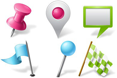Скачать Vista Map Markers Icons