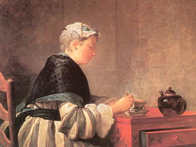 Lady Taking Tea