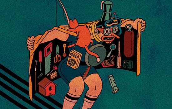 Хулиганские винтажные картинки от художника Stefan Glerum из Голландии
