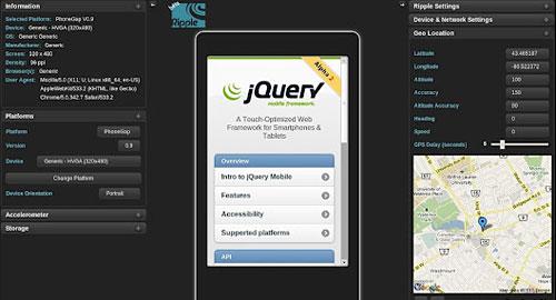 Перейти на Ripple Mobile Environment Emulator