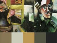 20 готовых цветовых палитр с абстрактных работ Марка Шагала