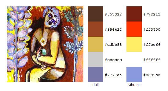 Палитра цветов с картин Марка Шагала 4