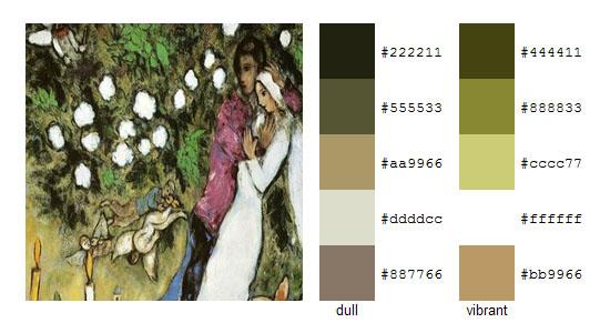 Палитра цветов с картин Марка Шагала 18