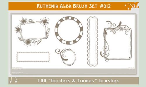 Скачать Brushset 12 Border N Frames