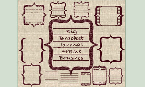 Скачать Scrappincop Journal Brushes