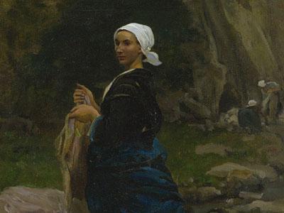 Washerwoman in Brittany