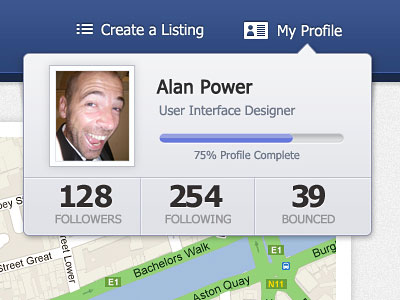 Перейти на My Profile Section