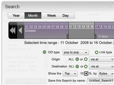 Перейти на Search Panel Time Range Selector