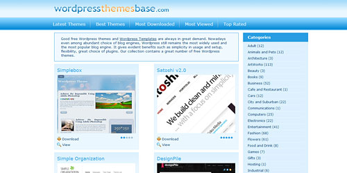 Перейти на WordPress Themes Base