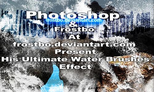 Скачать Ultimate Water Splash Brushes Photoshop SET