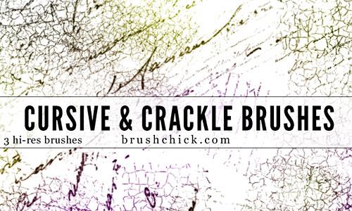 Скачать Cursive and Crackle Brush Pack