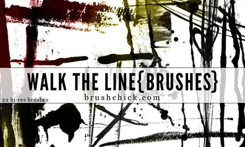 Скачать Walk the Line Brush Pack