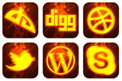 Скачать Hot Burning Social Icons By Graphics Vibe