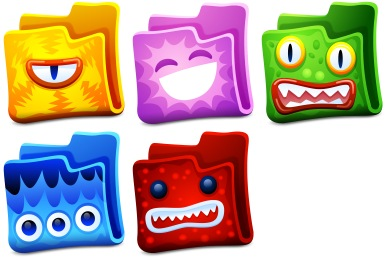 Скачать Creature Folders Icons By Fasticon