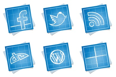 Скачать Blueprint Social Icons By Double J Design