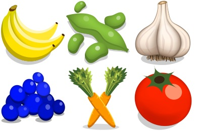Скачать Veggies Icons By Iconicon