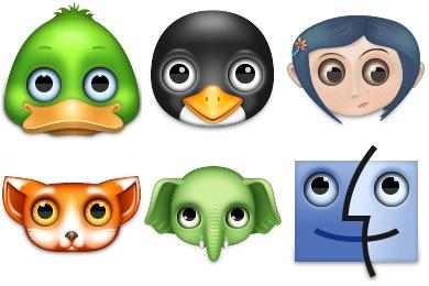 Скачать Zoom Eyed Creatures 2 Icons By Turbomilk