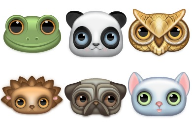 Скачать Zoom Eyed Creatures Icons By Turbomilk