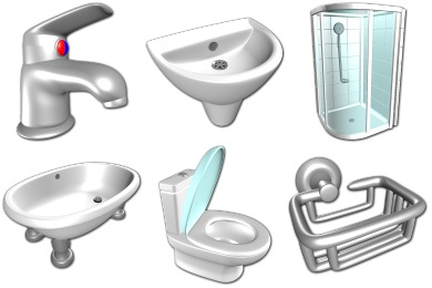 Скачать Bathroom Icons By Sirea