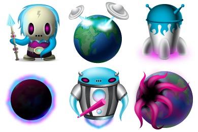 Скачать Space Invaders Icons By Turbomilk