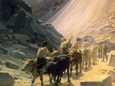 Перевозка мрамора в Карраре