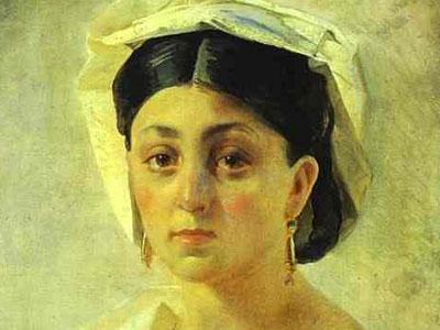 Молодая итальянка в национальном костюме