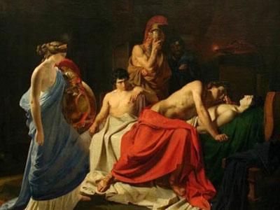 Ахиллес, оплакивающй Патрокла