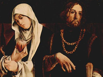 Right Wing St Catherine Of Siena And St Sigismund 1508
