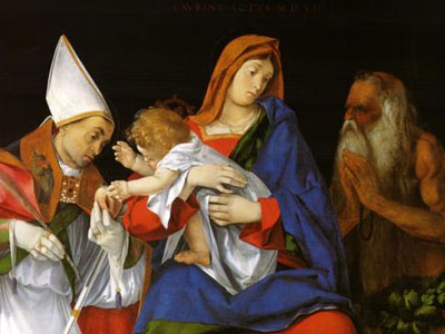 Madonna With A Bishop And St Onuphrius 1508