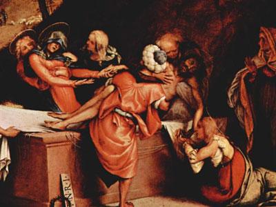 San Bartolomeo Bergamo Foot Plate Entombment 1516