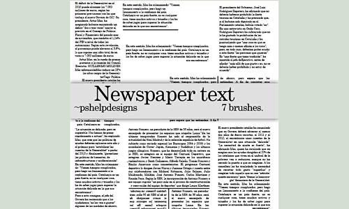Скачать Newspaper text brushes