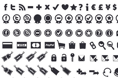 Скачать New e-commerce icon set