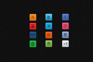 Скачать A Clean Mini Social Media Icon Set