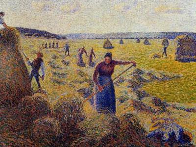 The Harvest Of Hay In Eragny 1887
