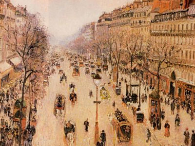 Boulevard Montmartre Morning Grey Weather 1897