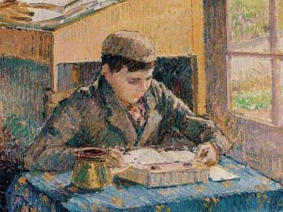 Portrait Of Rodo Reading 1893