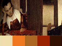 20 готовых цветовых палитр с картин художника Яна Вермеера
